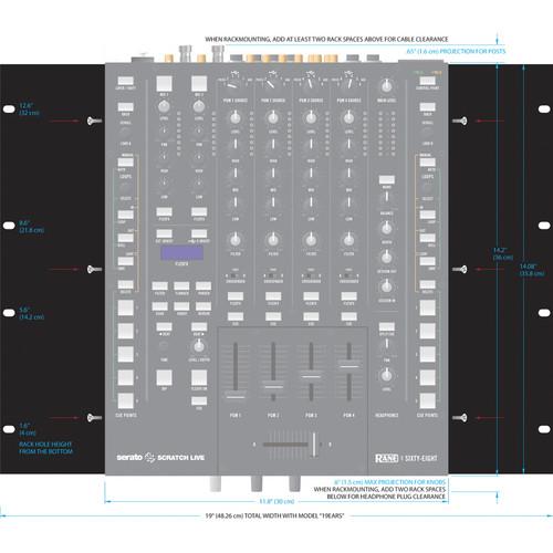 "Rane 19"" Rack Ear Kit for Sixty-Four / Sixty-Eight Mixer"