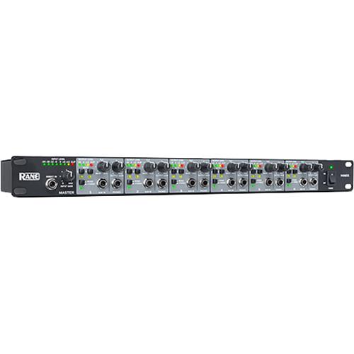 Rane Commercial MX6S 6-Channel Mixer / 8-Output Splitter (1 RU)