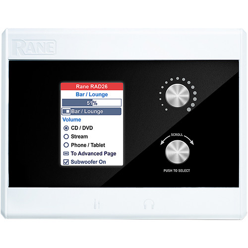 Rane Commercial RAD26 Single Room Remote Audio Device Interface