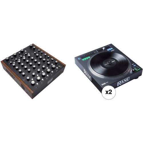 RANE DJ Rotary Mixer Kit with MP2015 DJ Mixer and 2 x Twelve Turntable Controllers