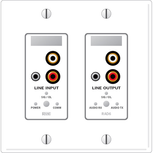 Rane RAD6 Remote Audio Device (White)