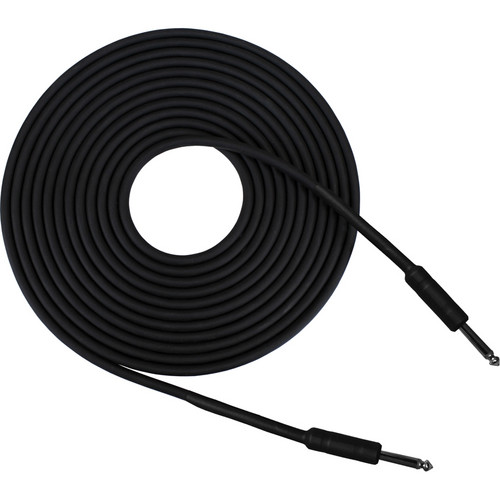 "RapcoHorizon G1S Series Guitar Cable with two 1/4"" Shrink over Barrel Connectors (30', Black)"