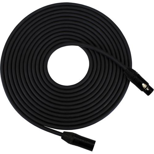 RapcoHorizon HOGMPRO-100.K - Studio Series Gold PRO XLR Female to XLR Male Microphone Cable (100', Black)