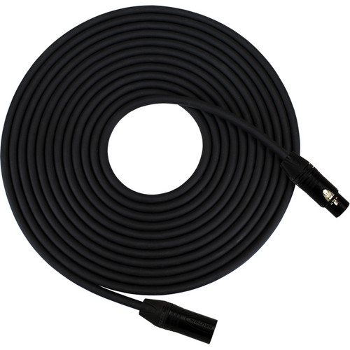 RapcoHorizon Gold PRO Microphone Cable with Neutrik XLR Female To XLR Male Connectors (100', Black)