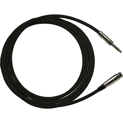 "RapcoHorizon HZ Microphone Cable with XLR Female to 1/4"" Male Connectors (15', Black)"