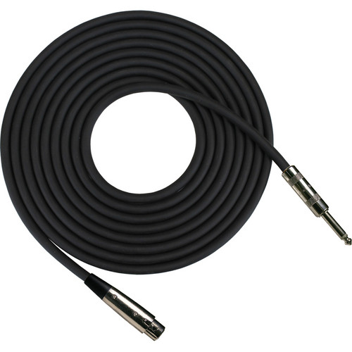 "RapcoHorizon HZ Microphone Cable with XLR Female to 1/4"" Male Connectors (20', Black)"