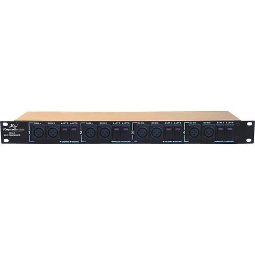 RapcoHorizon MC-4 4-Channel Rackmount Microphone Level Signal Combiner