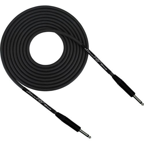 "RapcoHorizon SilverHog Guitar Cable with Neutrik 1/4"" Connectors (1', Black)"