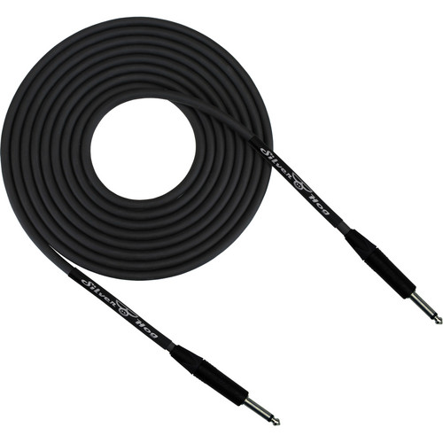 "RapcoHorizon SilverHog Guitar Cable with Neutrik 1/4"" Connectors (3', Black)"