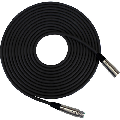 RapcoHorizon Microphone Cable with Switchcraft Nickel XLRF and XLRM Connectors (100', Black)
