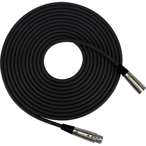 RapcoHorizon Microphone Cable with Switchcraft Nickel XLRF and XLRM Connectors (30', Black)