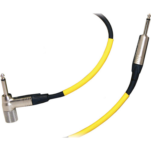 "RapcoHorizon V Cable Series Cable with 250kΩ Volume Control 1/4"" Right-Angle to 1/4"" Straight Connector (18', Black)"