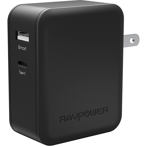 RAVPower Dual-Port Wall Charger (Black)