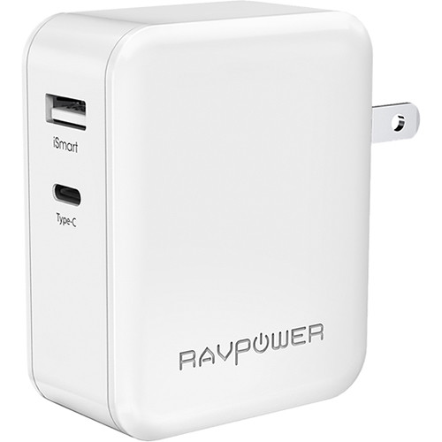 RAVPower Dual-Port Wall Charger (White)