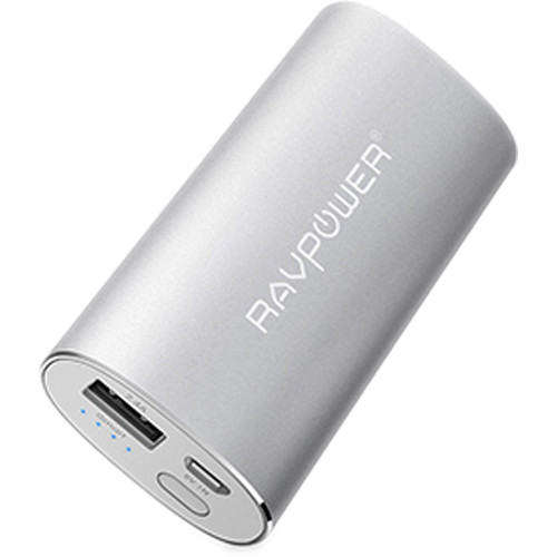 RAVPower Luster Series 6700mAh External Battery Charger (Silver)