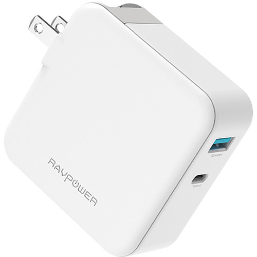 RAVPower Pioneer 45W Power Delivery 3.0 & QC Dual Port Wall Charger