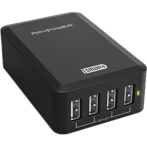 RAVPower 4-Port USB Charging Station (Black)