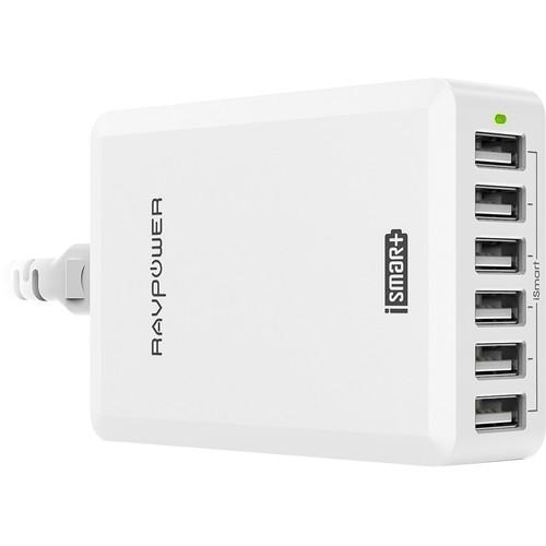RAVPower 6-Port USB Charging Station (White)