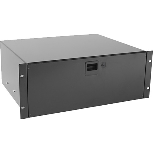 Raxxess Fine Sliding Rack Drawer with Locking Latch (4 RU, Black)