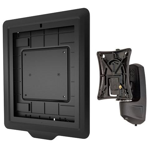 Raxxess K0W1I2TB Kontour Pitch/Pivot Flush Mount with Secure iPad Interface Bracket (Black)