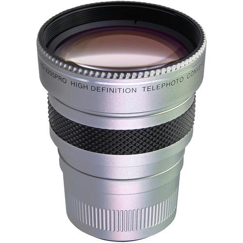 Raynox HD-2205PRO High-Definition Super Telephoto Conversion 2.2X Lens (Silver)