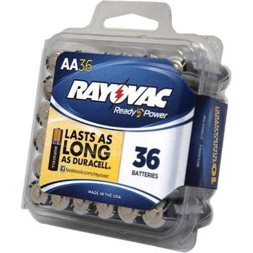 RAYOVAC 1.5V AA Alkaline Battery (36 Pro Pack)