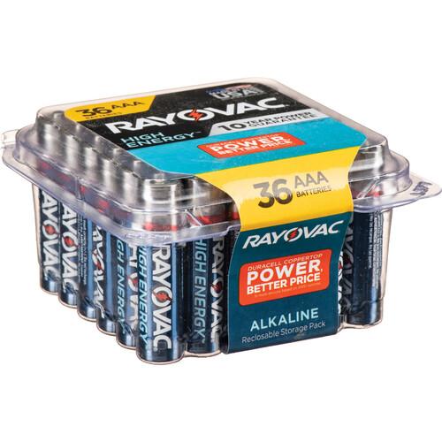RAYOVAC 1.5V AAA Alkaline Battery (36 Pro Pack)