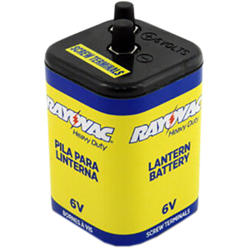 RAYOVAC 6V Alkaline Heavy Duty Lantern Battery (Screw Terminals)