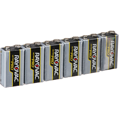 RAYOVAC 9V Alkaline Battery (Shrink-Wrapped, 6-Pack)