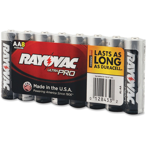 RAYOVAC AA Alkaline Battery (Shrink-Wrapped, 8-Pack)