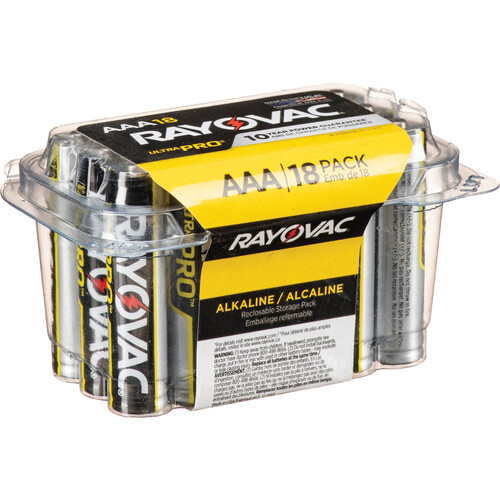 RAYOVAC AAA Alkaline Battery (Resealable, 18-Pack)