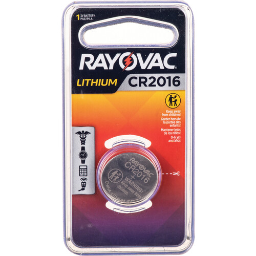 RAYOVAC CR2016 3V Lithium Battery