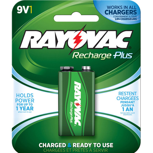 RAYOVAC Recharge Plus Rechargeable 9V Battery