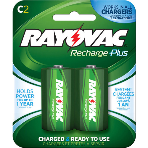 RAYOVAC Recharge Plus Rechargeable C Battery (2-Pack)