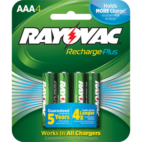 RAYOVAC Recharge Plus Rechargeable AAA Battery (4-Pack)