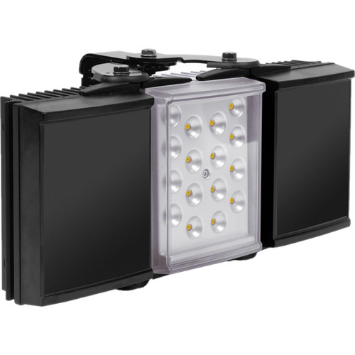 Raytec HYBRID 150 White Light IR Illuminator with Standard Power Supply Unit (120°, Black/Silver)