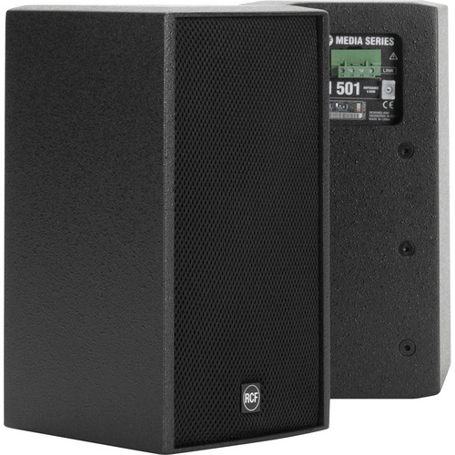 """RCF 2-Way 5.5"""" Woofer & 1.6"""" HF Passive Speaker with Installation Points (80W RMS, Black)"""