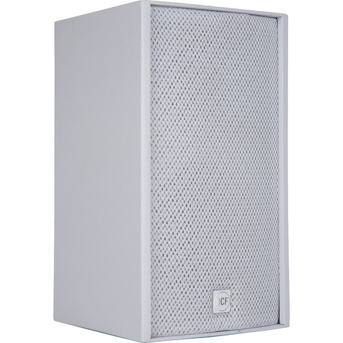 """RCF 2-Way 6.5"""" Woofer & 1"""" HF Passive Speaker with Installation Points (100W RMS, White)"""