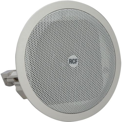 """RCF Full Range 3.5"""" Flush Mount Ceiling Speaker (8W, 8 Ohms, 100V/70V, IP44 Rated)"""