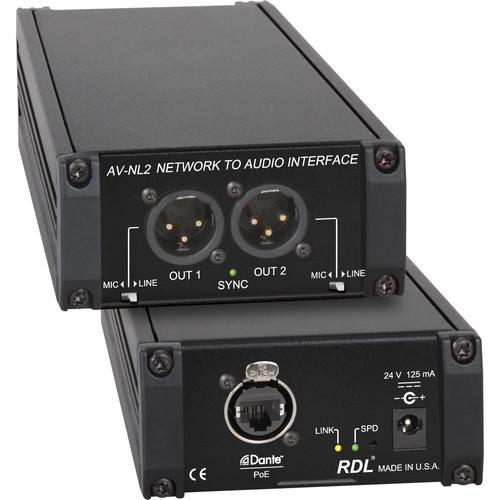 RDL AV-NL2 Dante Network Stereo D/A Converter