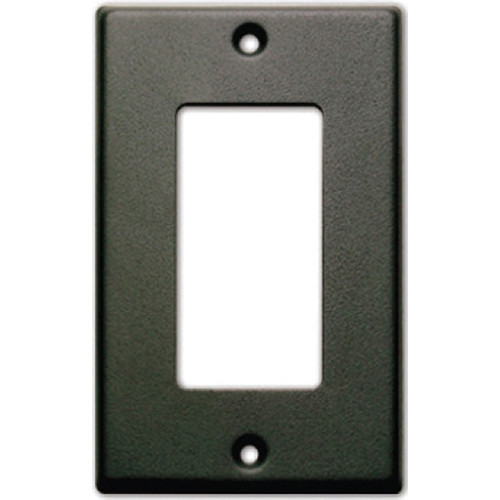 RDL CP-1B Single Cover Wall Plate (Black)