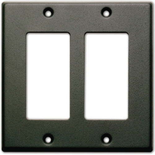 RDL CP-2B Single Cover Wall Plate (Black)