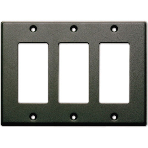 RDL CP-3B Single Cover Wall Plate (Black)