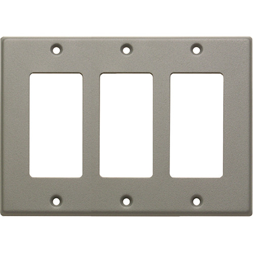 RDL CP-3G Single Cover Wall Plate (Gray)
