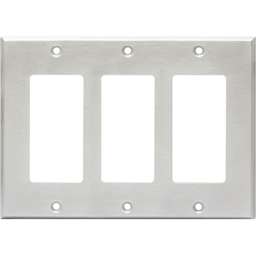 RDL CP-3S Triple Cover Plate (Stainless Steel)