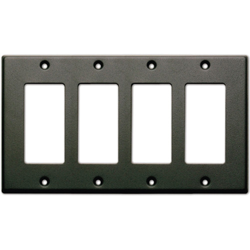 RDL CP-4B Single Cover Wall Plate (Black)