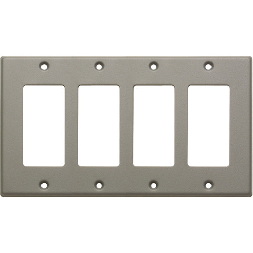 RDL CP-4G Single Cover Wall Plate (Gray)