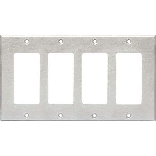 RDL CP-4S Quadruple Cover Plate (Stainless Steel)