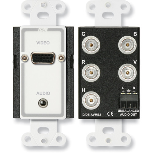 RDL D-AVMB2 Audio and Video Monitor BNC Panel (White/Gray)