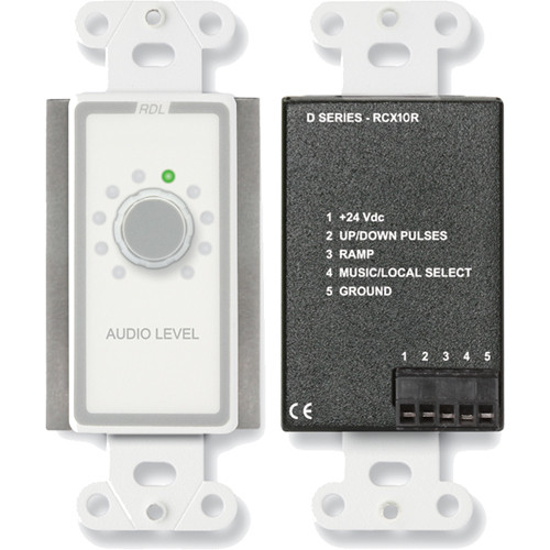 RDL D-RCX10R Remote Volume Control for RCX-5C Room Combiner (White)